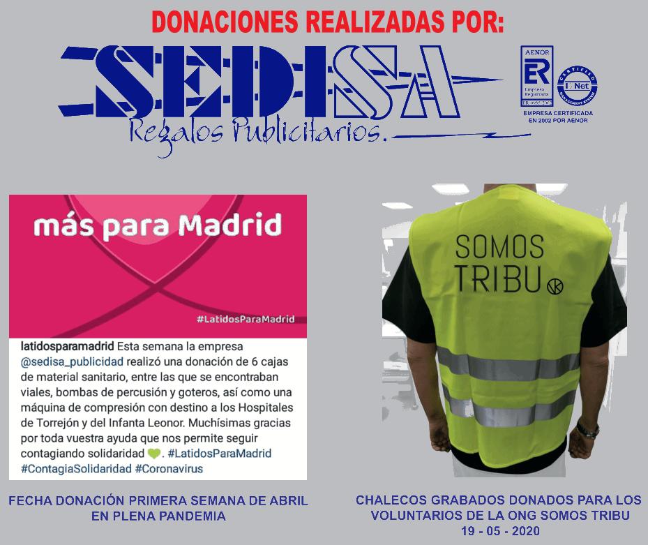 Donaciones realizadas por Sedisa