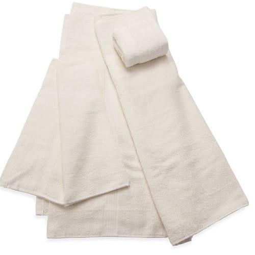 juego de tres toallas beige