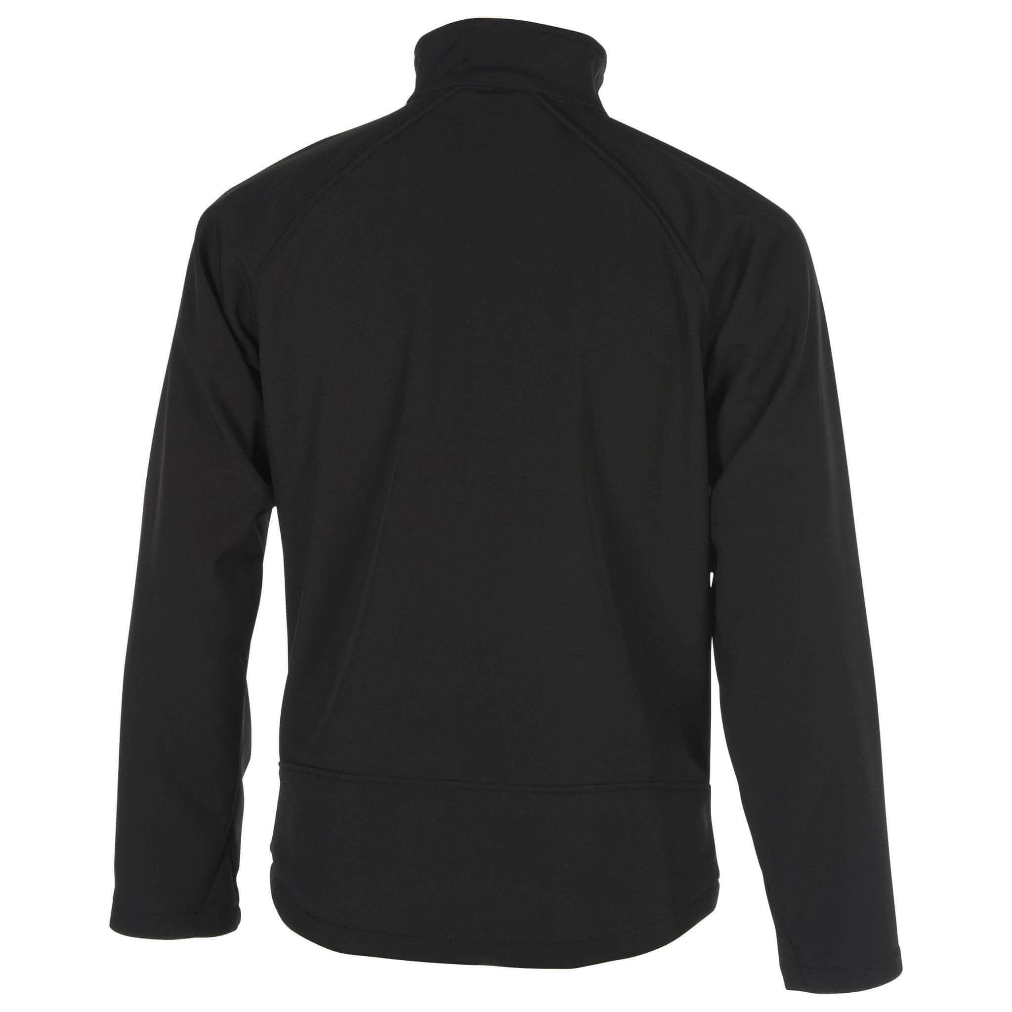 chaqueta plymouth negra parte de atrás
