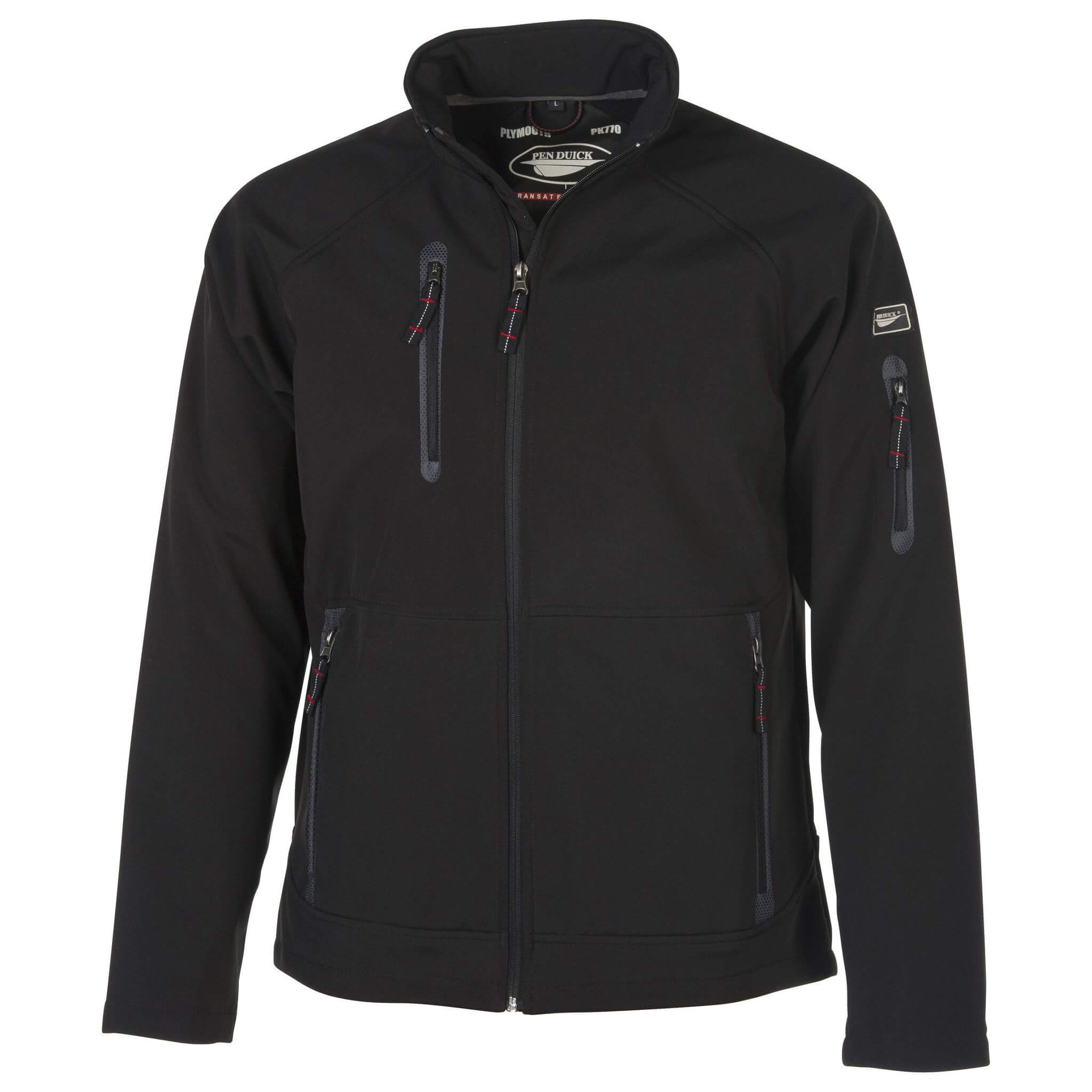 chaqueta plumouth negro por delante