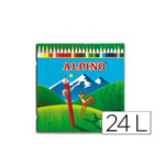 Caja metálica 24 lapiceros