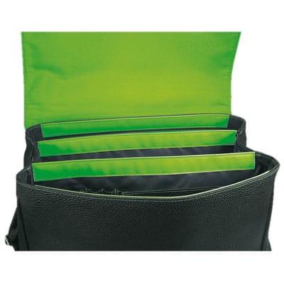 maletín con interior en verde