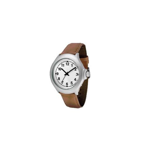 reloj de señora con correa marrón claro