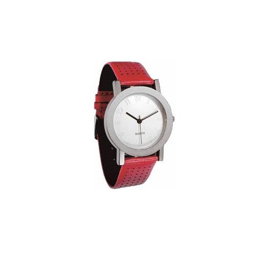 reloj con correa roja