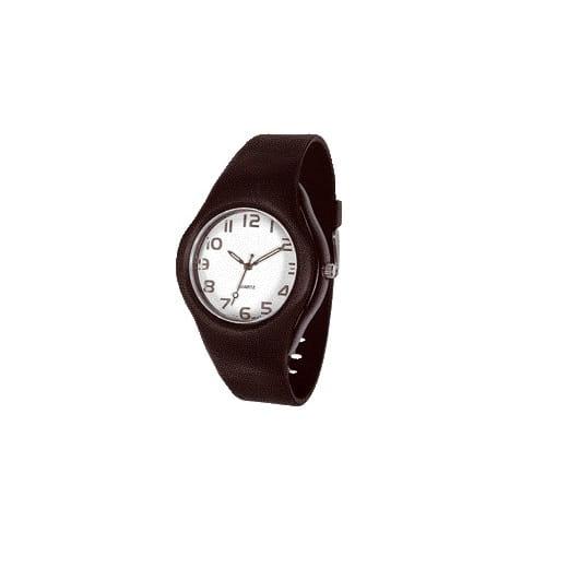 reloj en plástico negro