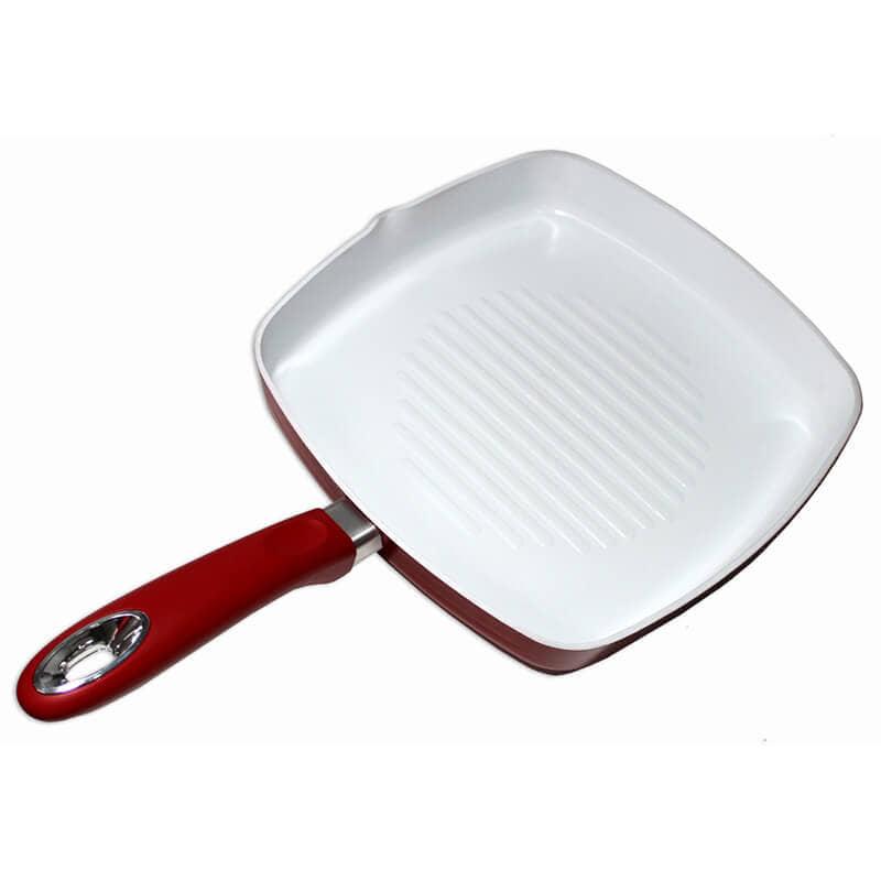 grill vital de cerámica en rojo y blanco